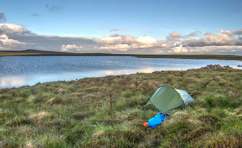 Camping on a remote Isle of Lewis trout loch