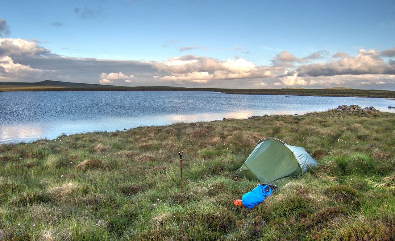 Camping and fishing on the Lewis moorland