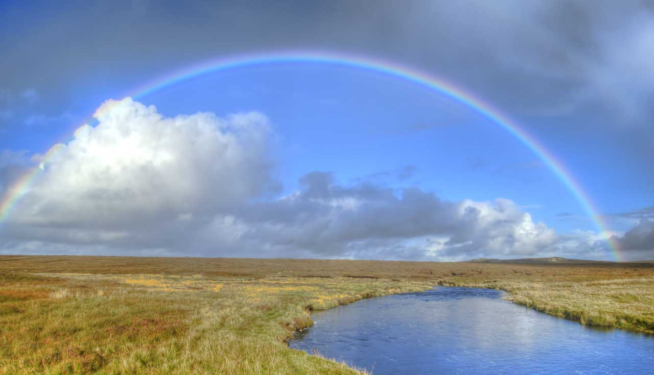 Rainbow over the Arnol River