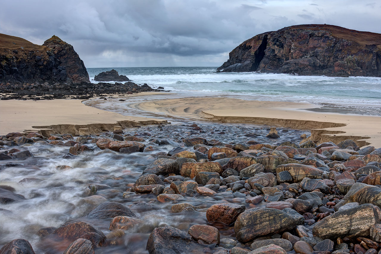 Dalbeg Beach on the Isle of Lewis in January
