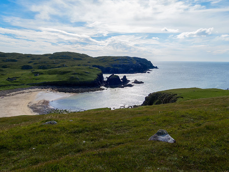 Down to Dalbeg on the coastal walk
