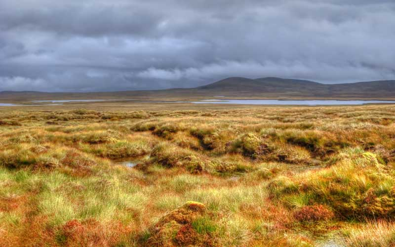 Isle of Lewis lochs and moorland